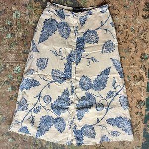 Ralph Lauren Floral Linen Maxi Skirt